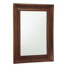 Carved Mango Wood Mirror