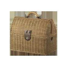 Small Rattan Doctor's Bag