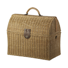 Large Rattan Doctor's Bag
