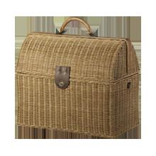 Large Rattan Doctor's Bag