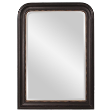 Arched Wood Wall Mirror