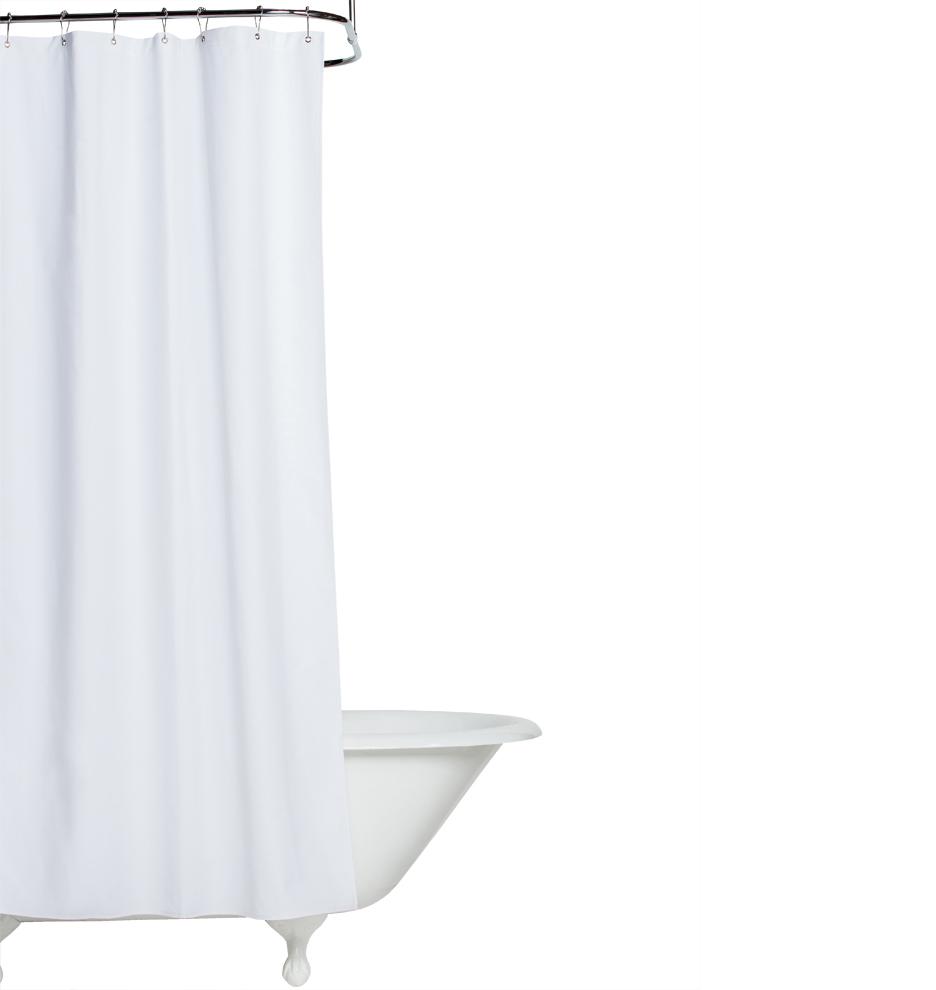 white cotton duck cloth shower curtain rejuvenation