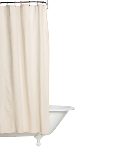 Natural Duck Cloth Shower Curtain