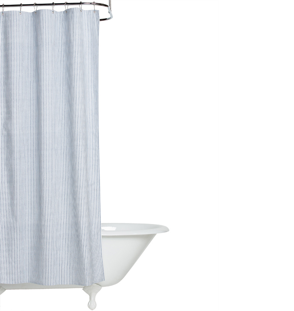 Corner Window Curtain Rod Connector Heavy Cotton Shower Curtain