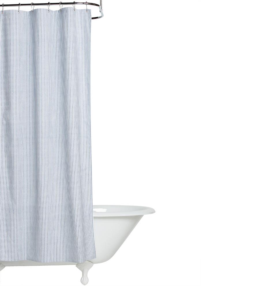 Corner Window Curtain Rod Connector Heavy Cotton Shower Curtain