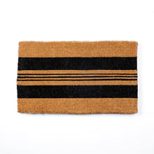 Black Horizontal Stripe Doormat