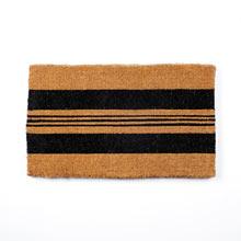 Black Horizontal Stripe Doormat