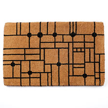 Craftsman Grid Windowpane Doormat