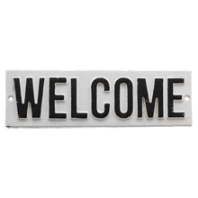 Cast-Iron Welcome Sign