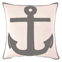 Indoor/Outdoor Anchor Pillow - Graphite