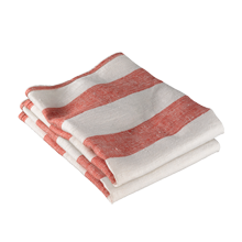Red Awning Stripe Dish Towel