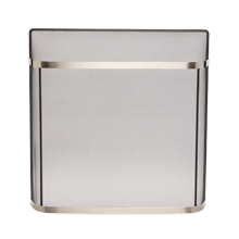 Fireplace Spark Guard - Brushed Nickel