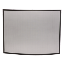 Curved Fireplace Screen - Satin Black