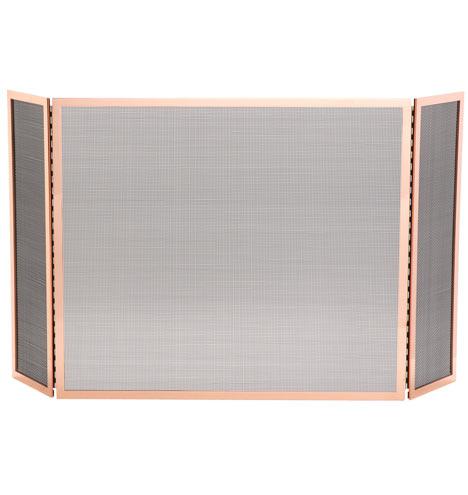 tri fold fireplace screen polished copper item e6314