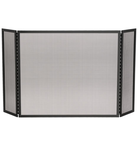 tri fold fireplace screen brushed nickel rejuvenation