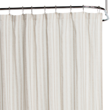 Flax Stripe Shower Curtain