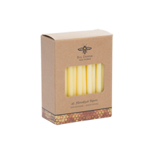 Hanukkah Beeswax Taper Candles, Natural - Set of 45