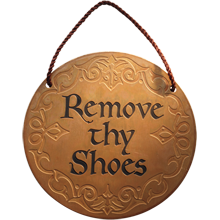 Nixie Remove Thy Shoes Sign