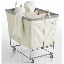 3-Section Steele Canvas Laundry Bin
