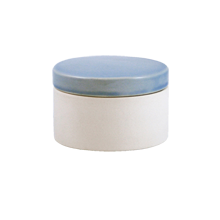 Shell Bisque Short Canister - Blue