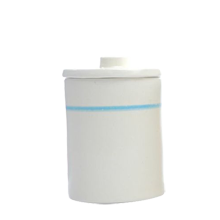 Ceramic Striped Canister, Small