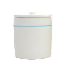 Ceramic Striped Canister, Medium