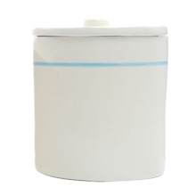Ceramic Striped Canister, Large