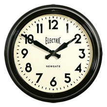 Black Station Wall Clock