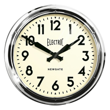 Chrome Station Wall Clock