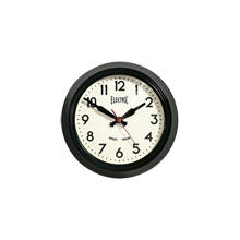 Black Wide-Rim Wall Clock