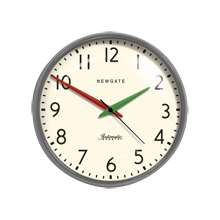 Gray Schoolhouse Wall Clock
