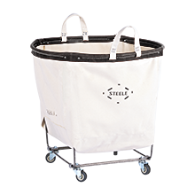 3 Bushel Steele Canvas Laundry Bin - Round