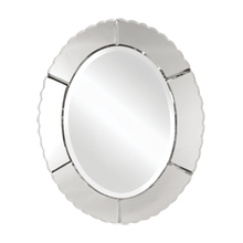 Ruffled Oval Mirror