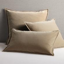 Italian Velvet Pillow Cover - Cobblestone