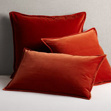 Italian Velvet Pillow Cover - Burnt Orange