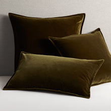 Italian Velvet Pillow Cover - Forest Green
