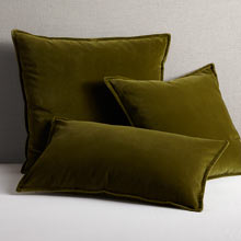 Italian Velvet Pillow Cover - Olive Green