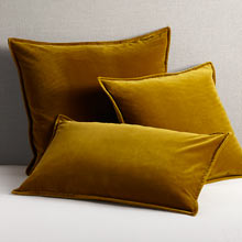 Italian Velvet Pillow Cover - Amber Green
