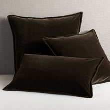 Italian Velvet Pillow Cover - Warm Gray
