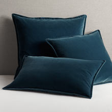 Italian Velvet Pillow Cover - Ocean Blue