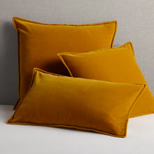 Italian Velvet Pillow Cover - Sunflower