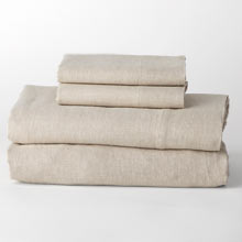 Belgian Flax Linen Sheet Set - Natural