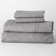 Belgian Flax Linen Sheet Set - Heathered Gray