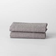 Belgian Flax Linen Pillowcases Set of 2 - Heathered Gray