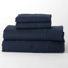 Belgian Flax Linen Sheet Set - Midnight