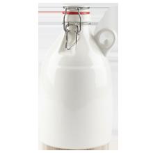 White Ceramic Growler - 64-Ounce