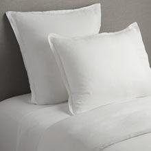 Belgian Flax Linen Duvet Cover & Shams - White