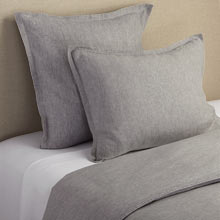 Belgian Flax Linen Duvet Cover & Shams - Heathered Gray