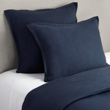 Belgian Flax Linen Duvet Cover & Shams - Midnight