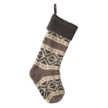 Gray Fair Isle Stocking